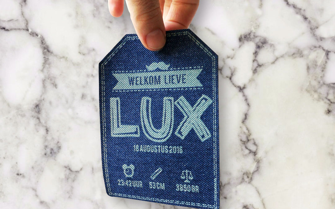 Geboortekaartje Lux