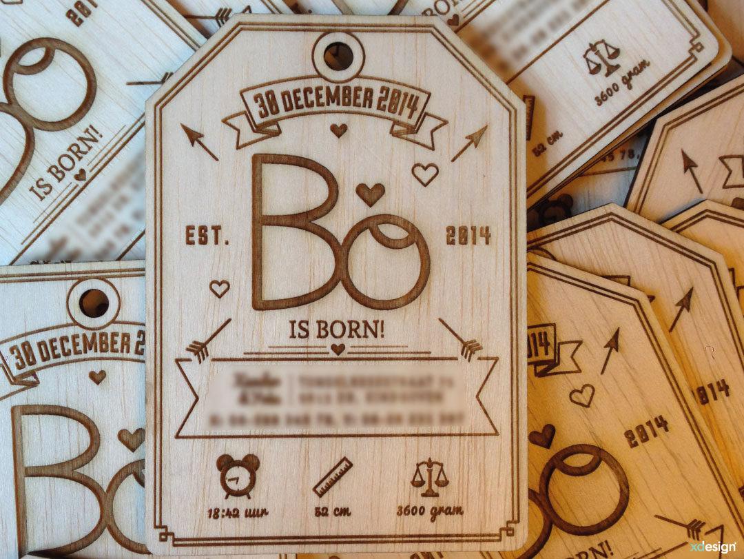 Geboortekaartje Bo