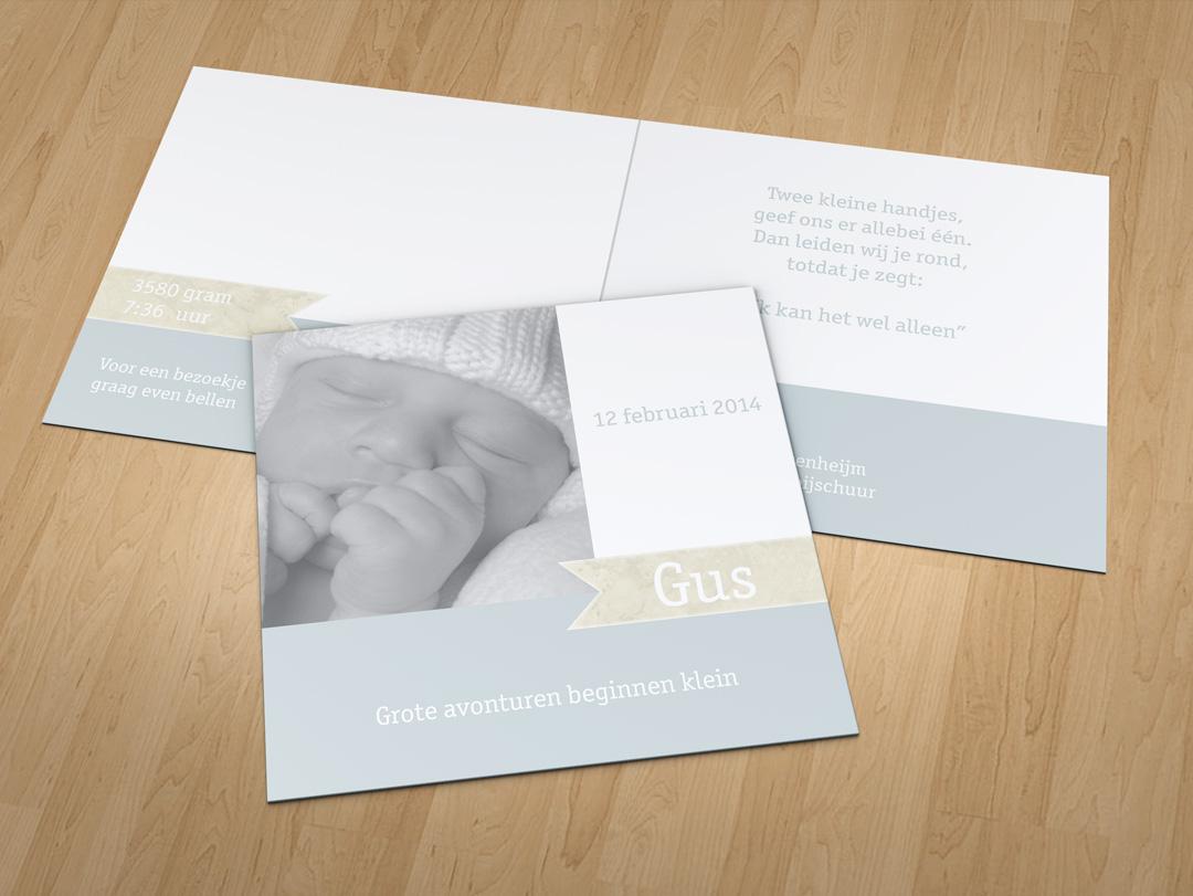 Geboortekaartje – Gus
