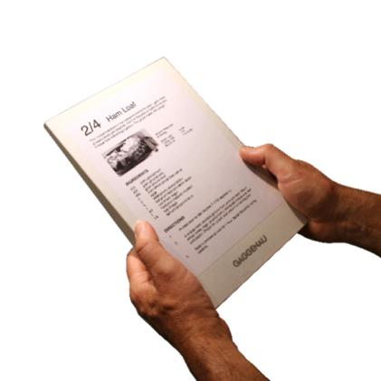 E-ink Recipe
