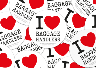 Sticker I love baggage handlers