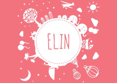Geboortekaartje ELIN