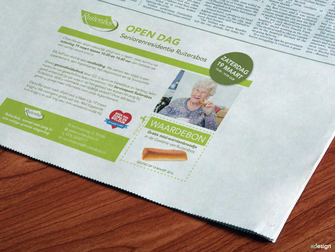 Advertentie Ruitersbos