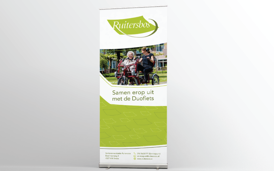 Roll-up banner Duo-fiets