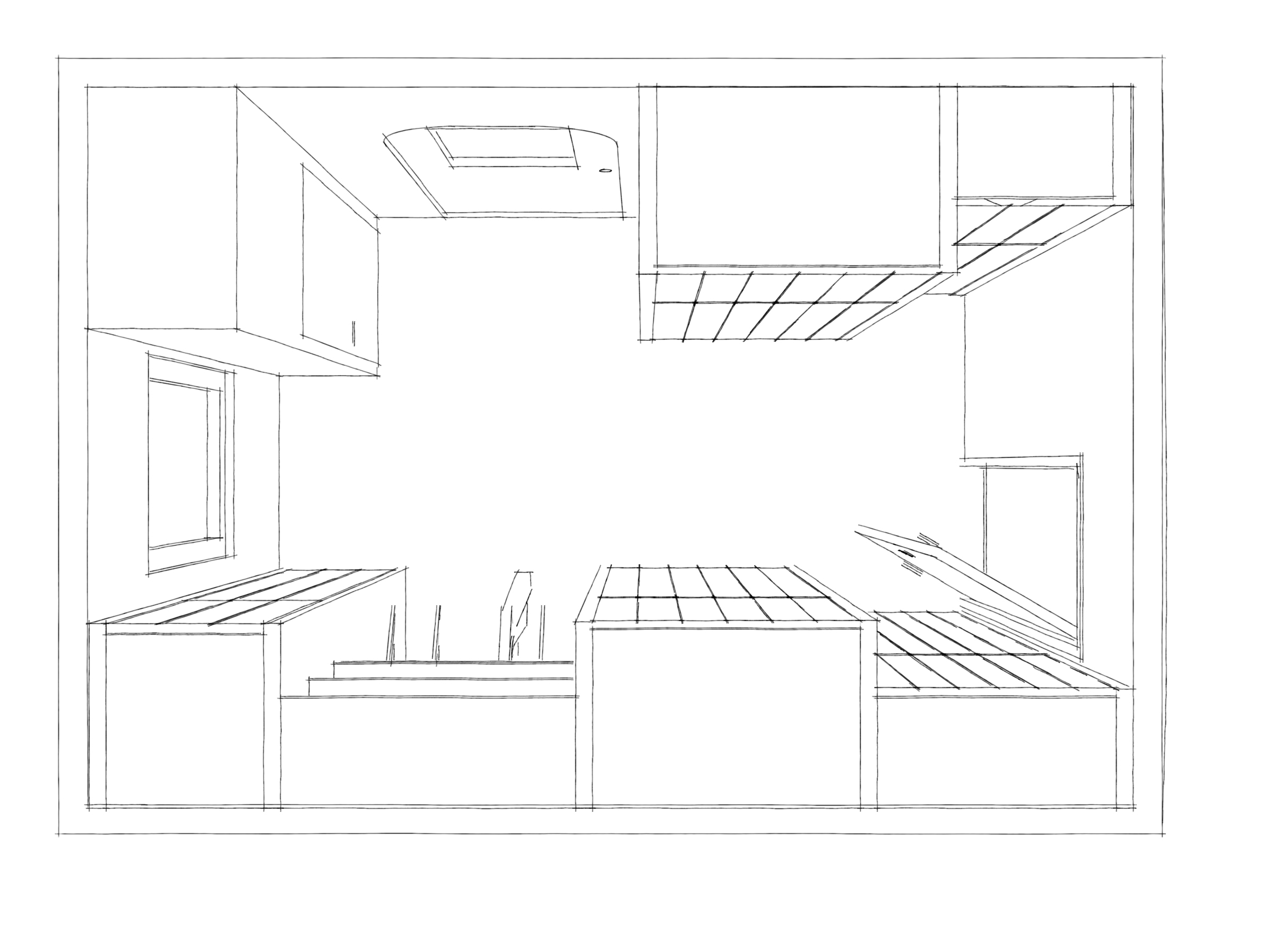 Interieur schetsen – Kast