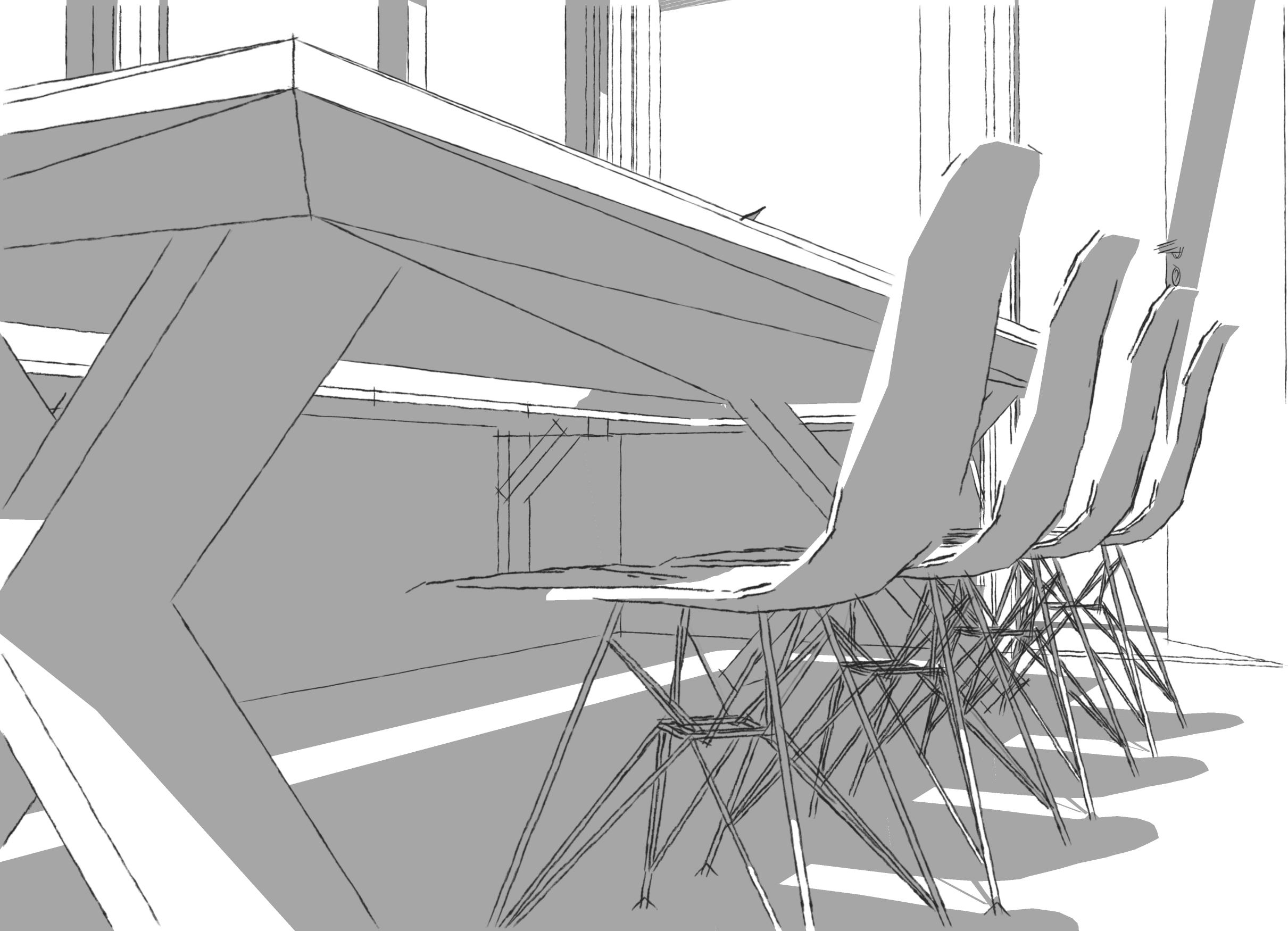 Interieur schetsen – Mudroom